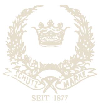 Schutzmarke seit 1877